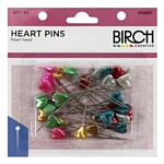 Birch Heart Pins pack of 30