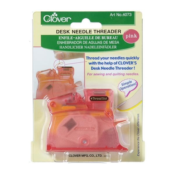Clover Desk Needle Threader - Pink