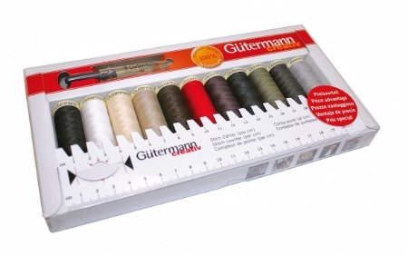 Gutermann Thread Pack with Seam Ripper and Sewing Gauge