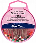 Glass Head Pins Extra Long