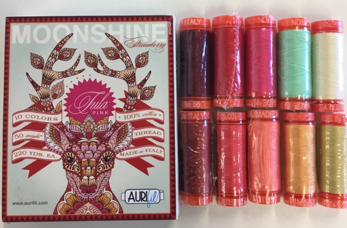 Aurifil Thread Pack Designer Collection- Moonshine Strawberry by Tula Pink