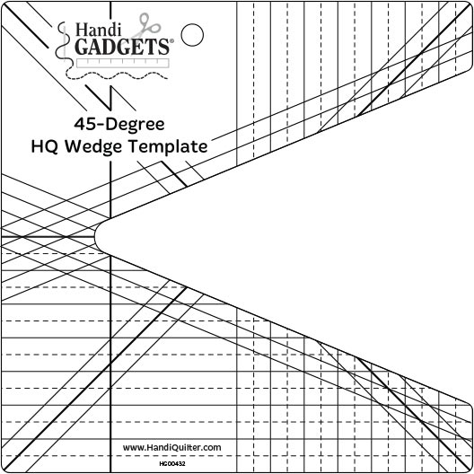 Handi Quilter Wedge 45 Degree Template