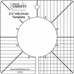 Handi Quilter Circle Template 2-and-a-half inch