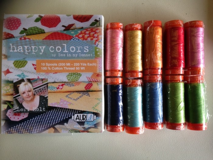 Aurifil Thread Pack Designer Collection- Happy Colours by Lori Holt