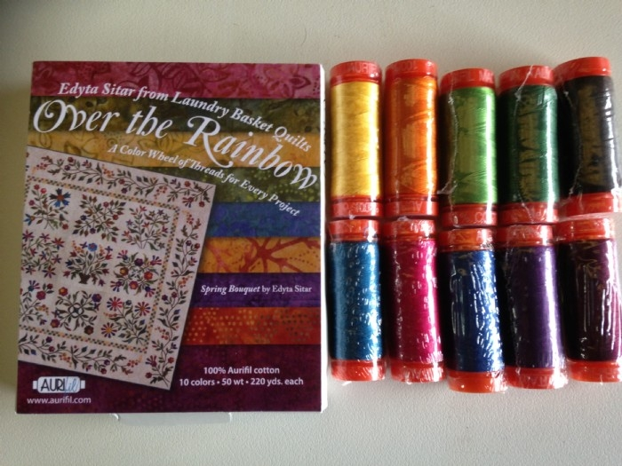 Aurifil Thread Pack Designer Collection- Over The Rainbow by Edyta Sitar