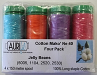 Aurifil 4 Pack 40w 150m: Jelly Bean