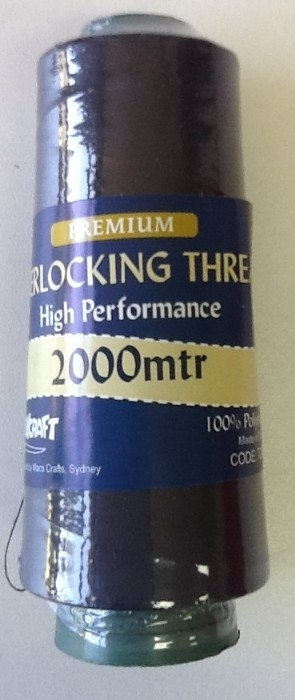 Overlocker Thread 2000 Metres Black