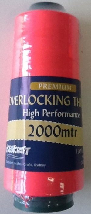 Overlocker Thread 2000 Metres Neon Pink
