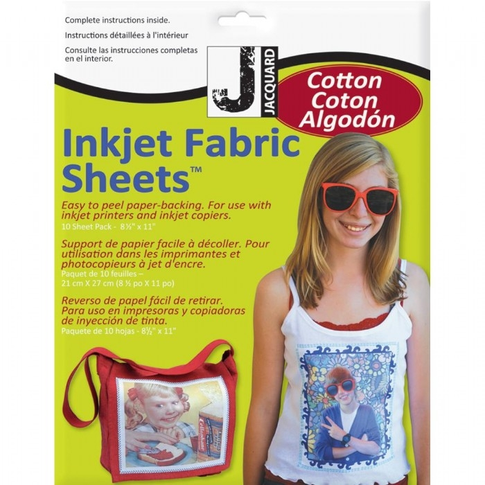 Jacquard Brand Printable Inkjet Fabric Sheets 10pk.