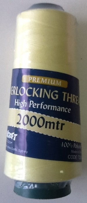 Overlocker Thread 2000 Metres Lemon