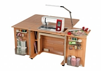 Horn Outback Sewing Cabinet MK II Including Extension Table