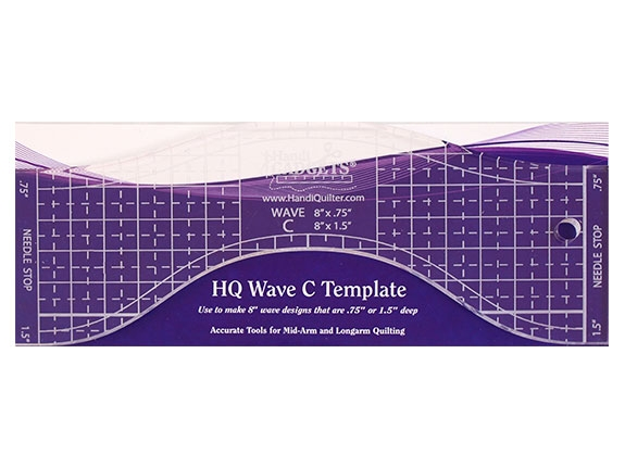 HQ Wave C Template ruler 8''