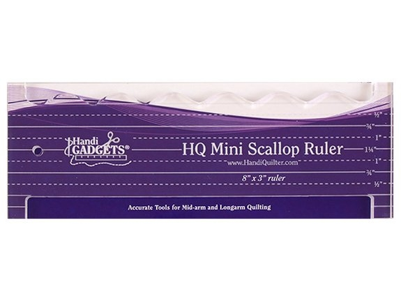 HQ Mini Scallop Ruler 8