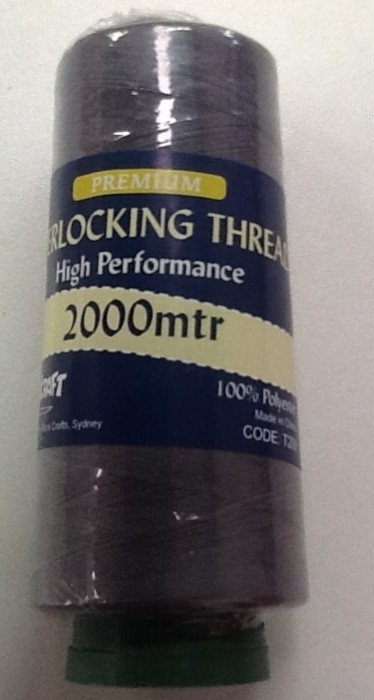 Overlocker Thread 2000 Metre Dark Grey