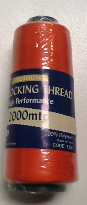 Overlocker Thread 2000 Metres Orange