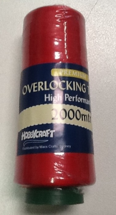 Overlocker Thread 2000 Metre Red