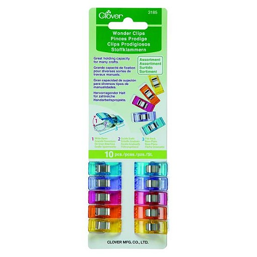 Clover Wonder Clips - Neon Pack of 10