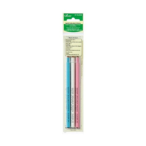 Clover Water Soluble Pencils Pack of 3